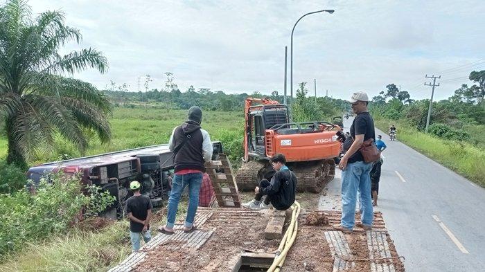 Sebab Bus Putra Rafflesia Masuk Siring Jalinsum Muratara, Padahal Jalan Lurus tidak Bergelombang