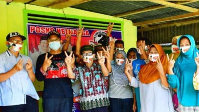Calon Bupati Musirawas H Hendra Gunawan silaturahmi dengan masyarakat Kecamatan Selangit dalam rangakain kampanye, Rabu (4/11/2020).