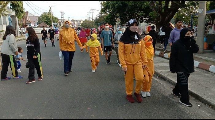 Intip Aktivitas Car Free Day di Taman Kota Baturaja Saat OKU Berstatuskan Zona Kuning Covid-19