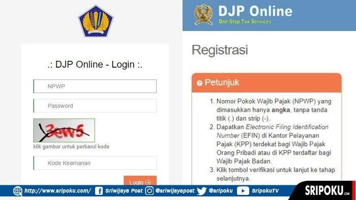 Tata Cara Lapor Pajak Online Spt Tahunan Lengkap Dengan Cara Dapatkan Efin Ini Batas Waktu Laporan Sriwijaya Post