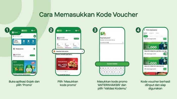 Cara masukan kode voucher, di aplikasi gojek