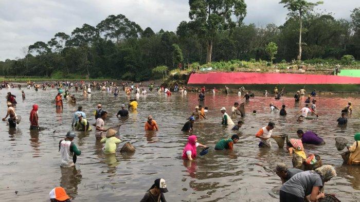 Tradisi Unik, Warga Desa di Pagaralam Ini Cari Ikan Bersama Jelang Acara Nikahan, Ini Tujuannya!