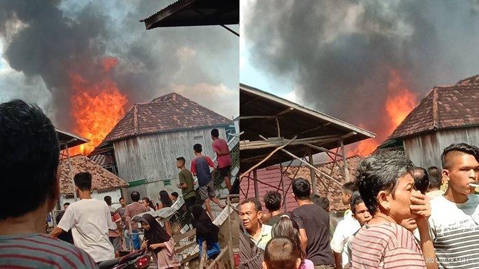 Jerit Tangis Korban Kebakaran di Ogan Ilir Kecamatan Tanjung Batu, Barang Berharga Hangus Terbakar