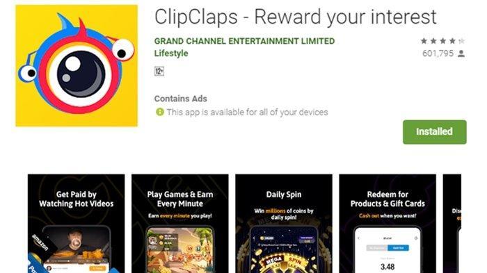 Kode Redeem ClipClaps, Aplikasi Penghasil Uang, Bisa Dapatkan Jutaan Rupiah dalam Sekejab