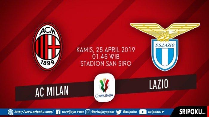 Jadwal Semifinal Leg Kedua Coppa Italia Hari Ini, AC Milan Vs Lazio