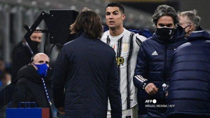 Asyik Cetak Gol di Kandang Inter Milan, Ronaldo Justru Ditarik Keluar: Ekspresi Kesal Jadi Sorotan
