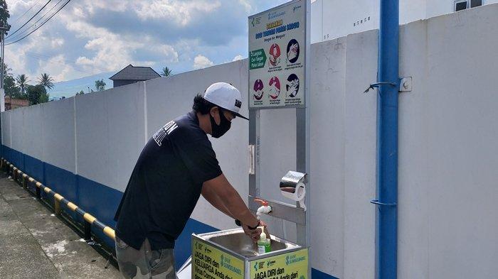 Tempat Cuci Tangan Kini Bertebaran di Pagaralam, Update Virus Corona di Pagaralam 21 Noivember