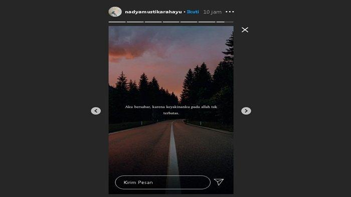 Curhatan Nadya di Instagram