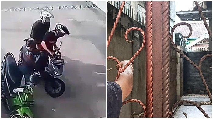 Suasana Lagi Ramai & Dipantau CCTV, Kawanan Pencuri tak Gentar, Berhasil Bawa Motor di Dalam Pagar
