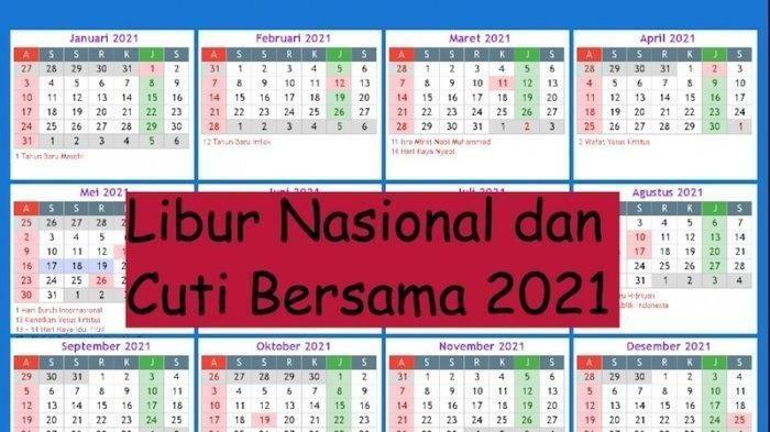 Cek Kalendermu! Pemerintah Pangkas Cuti Bersama Tahun 2021, Hingga Jadi 2 Hari