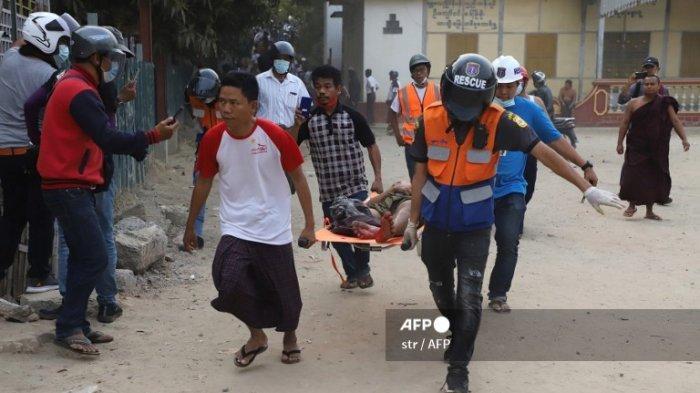 KORBAN Berjatuhan, Militer Myanmar Menggila, 2 Pendemo Tumbang Tertembak di Kepala dan Dada