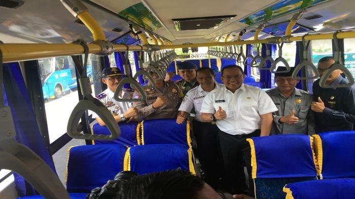 Dodi Resmikan Damri Trayek Muba-Palembang. Langsung Terkoneksi dengan LRT Palembang