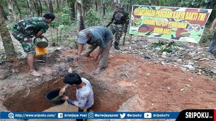 3 Kecamatan di OKU Dibangunkan Jamban Gratis oleh Kodim 0403/OKU Melalui Koramil 403-02/Peninjauan