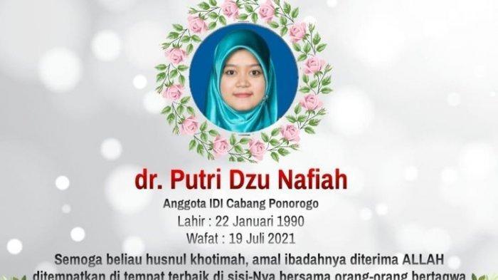 NASIB Miris Dokter Muda, RS tak Miliki Ventilator, Putri dan Janinnya Meninggal Terinfeksi Covid-19