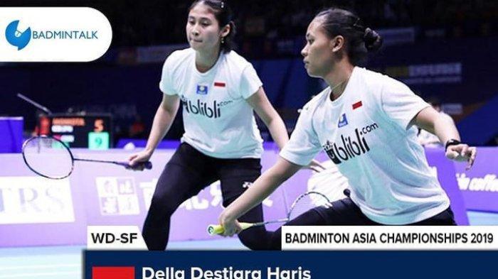 Jadwal Lengkap Semifinal Kejuaraan Asia 2019 - 2 Wakil Indonesia Berjuang Memperebutkan Tiket Final