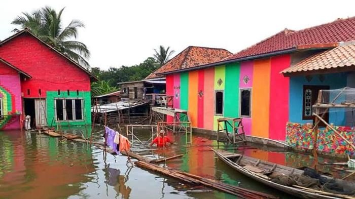 Desa Burai Ogan Ilir Jadi Destinasi Wisata Kampung Warna Warni