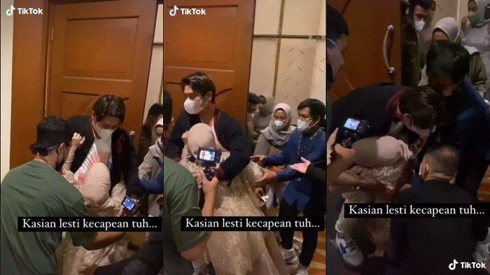 Rizky Billar Panik, Lesty Kejora Pingsan Hanya 'Prank' Belaka? Niat Kerjai Pengantin Gagal: Blackout