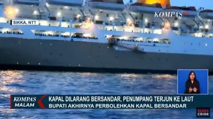 Detik-detik Penumpang Kapal Histeris Ketakutan Terjun ke Laut Tahu Dalam Kapal Ada 3 Positif Corona