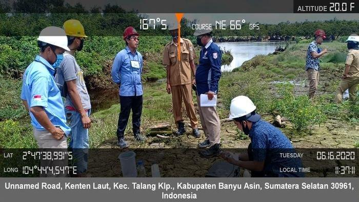 Dinas Lingkungan Hidup (DLH) Banyuasin tak Temukan Limbah Pabrik CPO di Sungai Gasing