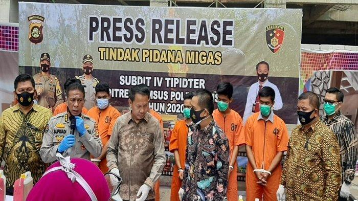 Ditkrimsus Polda Sumsel Amankan 70 Ton Minyak Mentah, Minyak Ilegal dari Sumur Bayung Lencir Muba