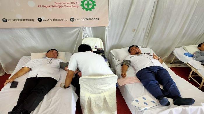 Setetes Darah Anda Nyawa Bagi Sesama, Bulan K3 & HUT SPPSP, PT Pusri Gelar Aksi Donor Darah