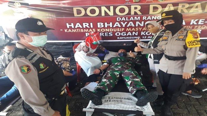 Cerita Dandim 0402/OKI-OI yang Sejak SMA Selalu Ikut Donor Darah, Ada Kapolres OKI Sumbang 2 Kantong