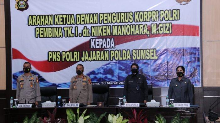 Ketua DPK Polri Pembina TK I dr Niken Manohara Beri Arahan ke PNS Polri Polda Sumsel