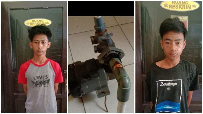 Berkat Grup WhatsApp 2 Pencuri Mesin Pompa Tertangkap, Pelaku Kaget Dengar Suara Motor Korban