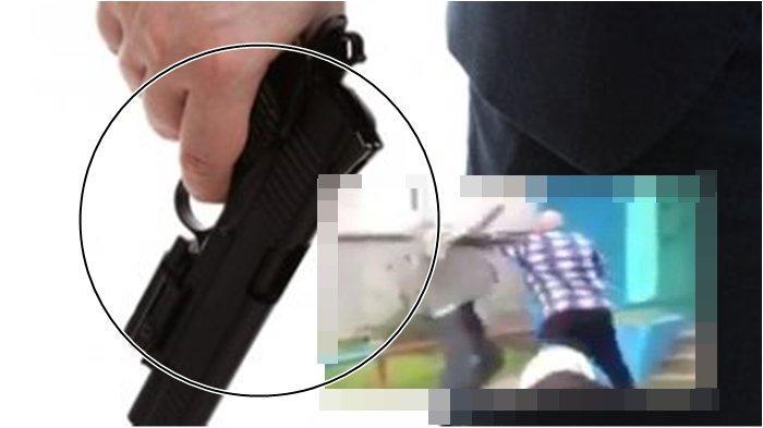 NGAMUK, AN Pukul Kakek-Kakek Pakai Gagang Pistol Setelah Kalah Duel Tangan Kosong, Telinga Berdarah