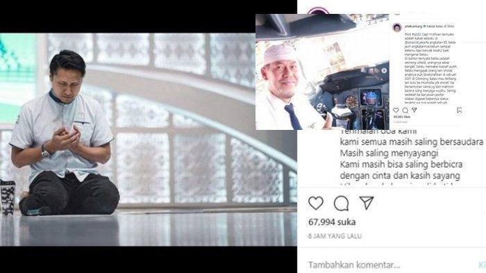 Duka Arie Untung Bongkar Tabiat Asli Kapten Afwan, Pilot Sriwijaya Air itu Kakak Kelasnya di SMA