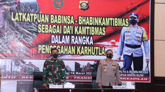 KAPOLDA Sumsel dan Pangdam II Sriwijaya Membuka Lat Kat Puan Dai, Diikuti Babinsa dan Babinkamtibmas