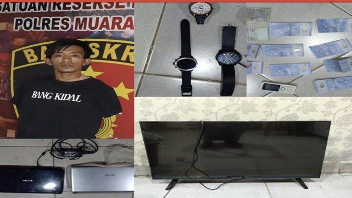 Pembobol Rumah di Muaraenim Dibekuk Polisi, Bawa Kabur Sejumlah Jam Tangan Bermerk dan Handphone