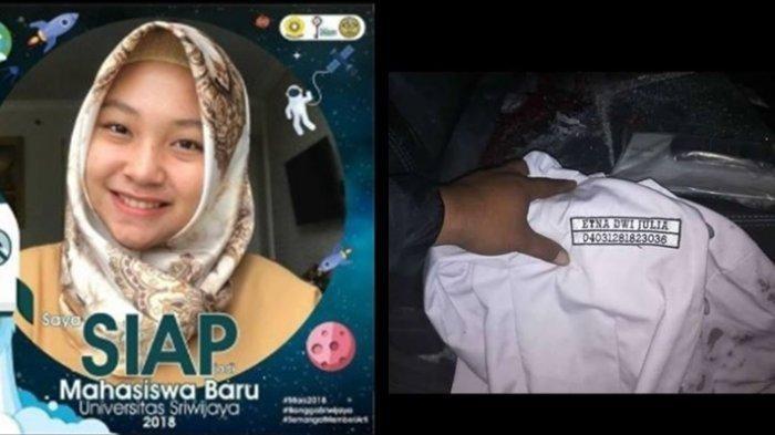 Mahasiswi Kedokteran Unsri Etna Dwi Julia Dimakamkan di Banten Plaju, Orangtuanya Dokter di Lampung