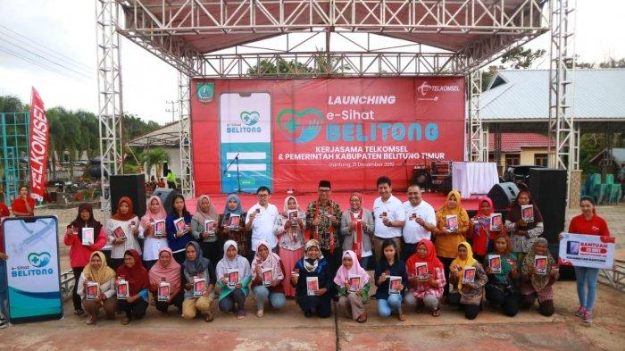 Telkomsel Hadirkan Aplikasi E-SIHAT BELITUNG Untuk Tekan Angka Kasus Stunting di Belitung Timur