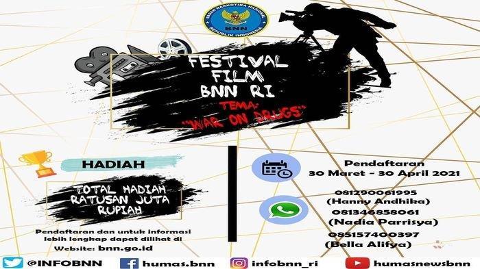 BNN Gelar Festival Film Pendek 2021, Total Hadiah Ratusan Juta, Berikut Cara Daftarnya