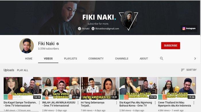 Akun YouTube Fiki Naki