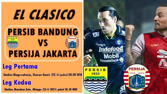 Prediksi Susunan Pemain Persib Bandung vs Persija Jakarta, Piala Menpora di Indosiar Cek Disini