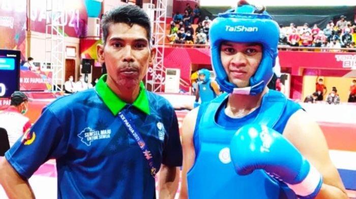 Altet Wushu SumselFirandAndista Maju ke Semifinal PON XX Papua Setelah Tumbangkan Pewushu DKI
