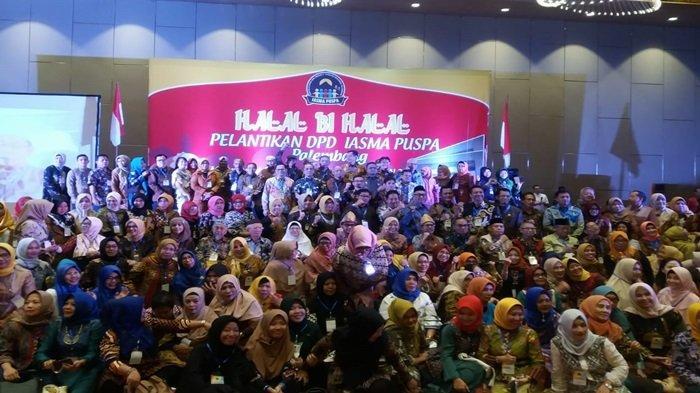 Halal Bihalal Keluarga Besar SMA N 2 Palembang dan Pelantikan DPD IASMA PUSPA Berlangsung Meriah