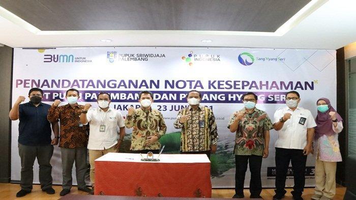 PUSRI dan SANG HYANG SERI Jalin Kerjasama Agrosolution Berbasis Digital Platform MyPusri