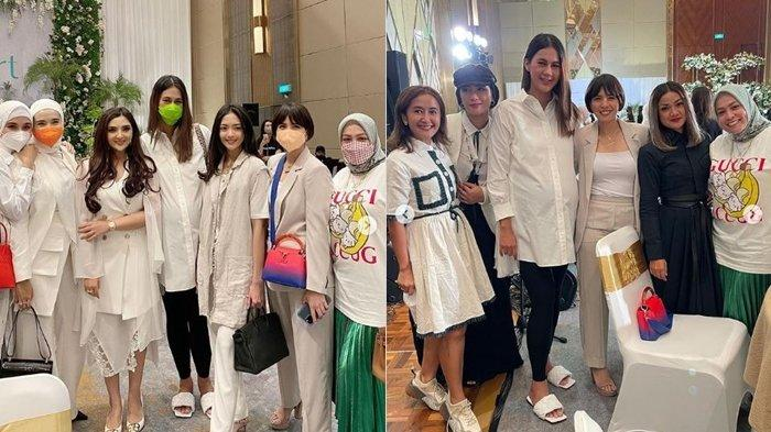 Foto sederet selebriti Tanah Air pada acara peluncuran produk kecantikan Ashanty, Selasa (5/10/2021)