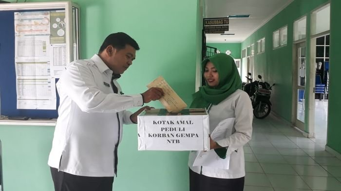 MAN 1 Musirawas Galang Dana untuk Korban Gempa di Lombok NTB. Ini Kata Kepala Madrasahnya