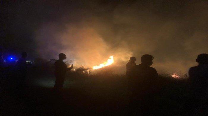 Dari Semalam Sampai Pagi Ini, 13 Hektar Lahan Gambut di Ogan Ilir Terbakar