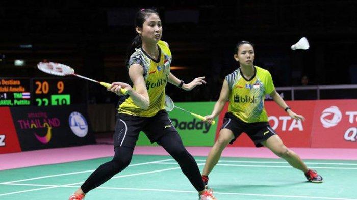 Hasil Badminton Kejuaraan Asia 2019 - Della/Rizki Melaju ke Perempat Final Usai Kalahkan Wakil China