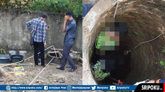 BREAKING NEWS : Seorang Ibu Rumah Tangga (IRT) di Palembang Ditemukan Tewas Gantung Diri di Sumur