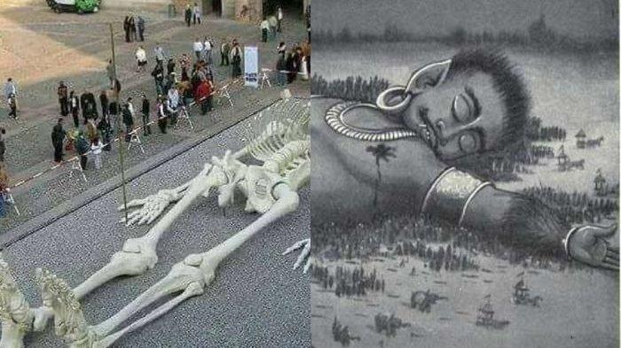 BIKIN GEmpar Dunia, Temuan Kerangka Gatotkaca: Beratnya 8 Ton, Panjang 28 Meter, Benarkah?