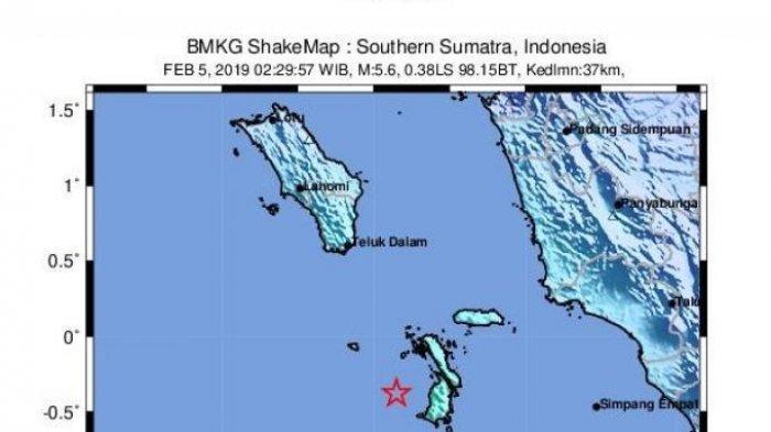 Guncangan Gempa Terasa Keras 3 Detik, Gempa 6,1 SR Terjadi di Nias Selatan