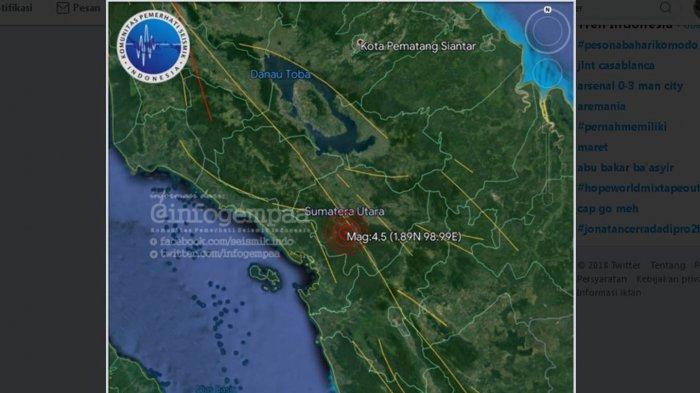 Gempa Guncang Kota Medan Dengan Kekuatan 4,5 Skala Richter Pukul 15.21 WIB