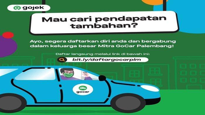 Yuk Gabung Jadi Mitra Gojek Palembang, Tinggal klik link ini: bit.ly/daftargocarplm