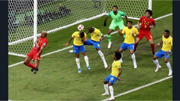 Cuplikan Gol Belgia Vs Brasil, Neymar Ketahuan Diving Tim Samba Tumbal Nama Besar Piala Dunia 2018
